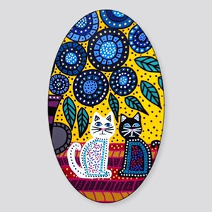 House Cats Sticker (Oval)