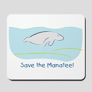 Save the Manatee! Mousepad