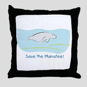Save the Manatee! Throw Pillow