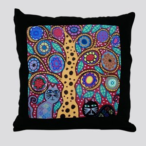 Cat Friends Throw Pillow