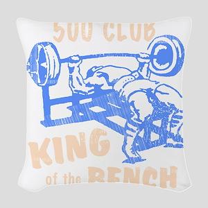 bench_kob_500tran_rev Woven Throw Pillow