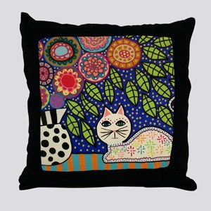 White House Cat Throw Pillow