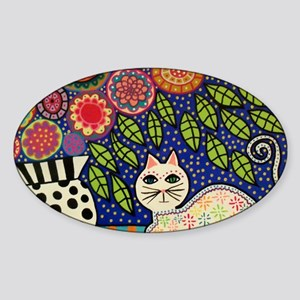 White House Cat Sticker (Oval)