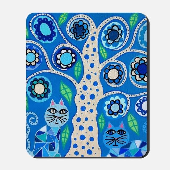 Blue Cats Mousepad