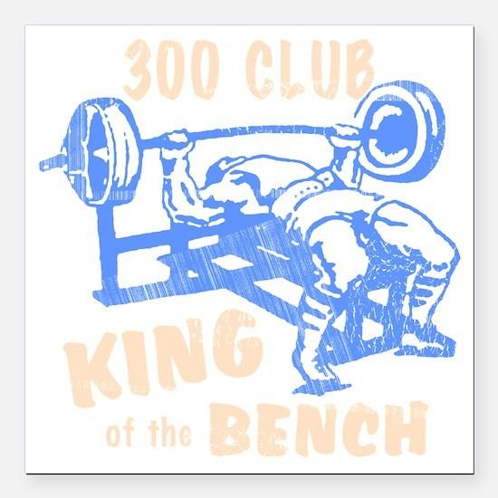 "bench_kob_300tran_rev Square Car Magnet 3"" x 3"""