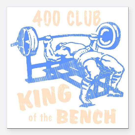 "bench_kob_400tran_rev Square Car Magnet 3"" x 3"""