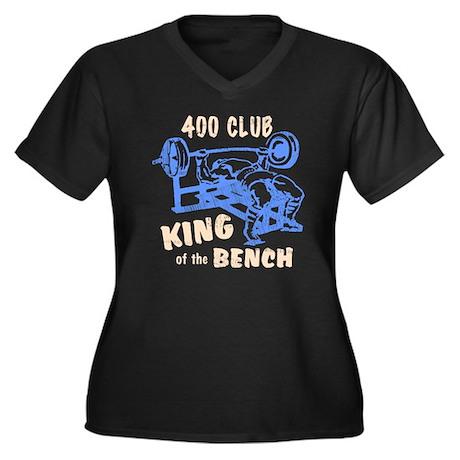 bench_kob_40 Women's Plus Size Dark V-Neck T-Shirt