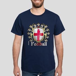 English Soccer Tribal Shield Dark T-Shirt