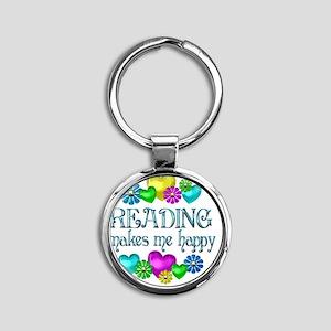 reading Round Keychain