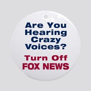 Turn Off Fox News Ornament (Round)