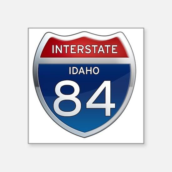"Interstate 84 - Idaho Square Sticker 3"" x 3"""