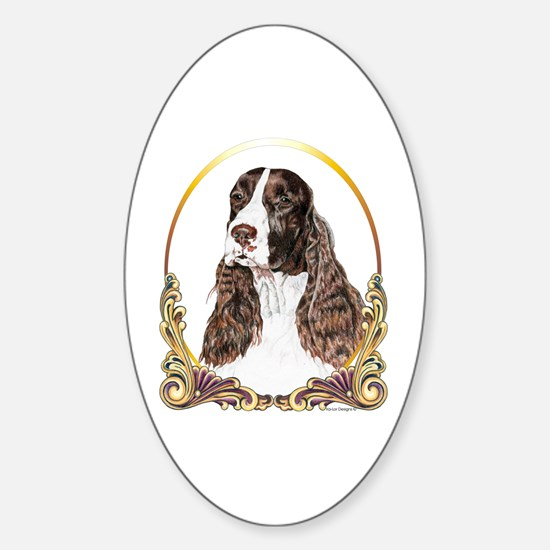 English Springer Spaniel Christmas Oval Decal
