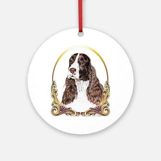English Springer Spaniel Christmas Ornament (Round