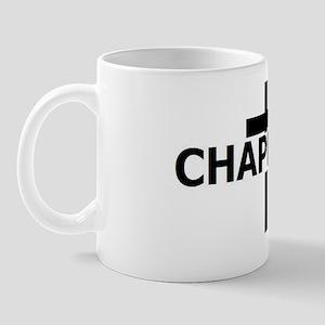 Chaplain Tag Blk White Mug