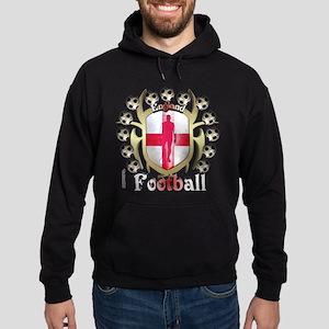English Soccer Tribal Shield Hoodie (dark)