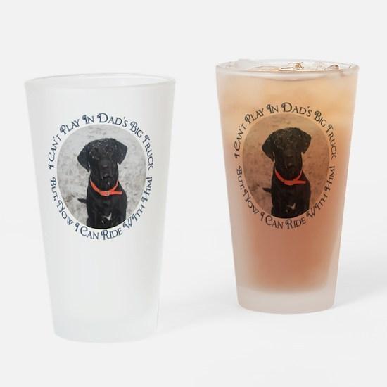 Black Labrador Retriever  Big  Truc Drinking Glass