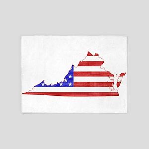 Virginia Flag 5'x7'Area Rug