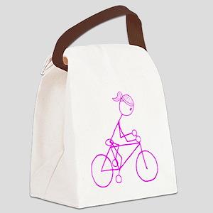 biker pink Canvas Lunch Bag