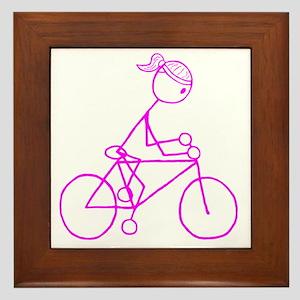 biker pink Framed Tile