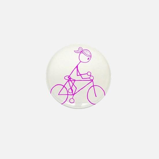 biker pink.gif Mini Button