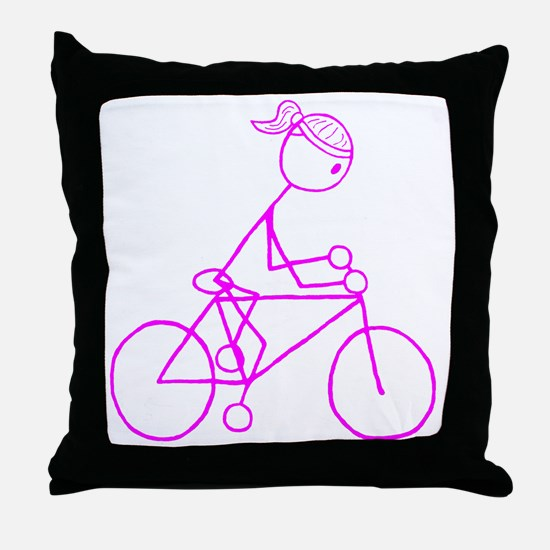biker pink.gif Throw Pillow