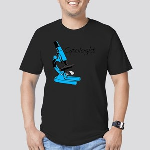 Cytologist Blue Micros Men's Fitted T-Shirt (dark)