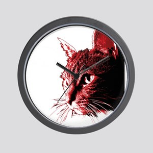 Justice for Animals: Red Hero Cat Wall Clock