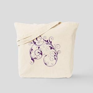 Purple Scroll - White Font Tote Bag