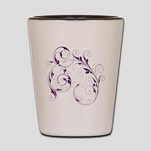 Purple Scroll - White Font Shot Glass