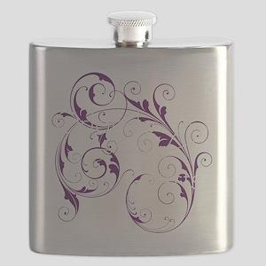 Purple Scroll - White Font Flask
