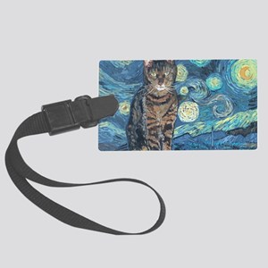 5x7HStarey NightCat Large Luggage Tag
