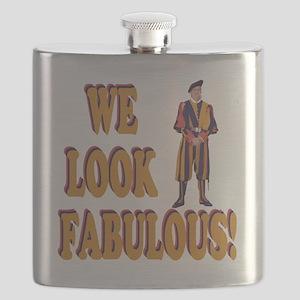 Swiss Guard We Look Fabulous! Flask