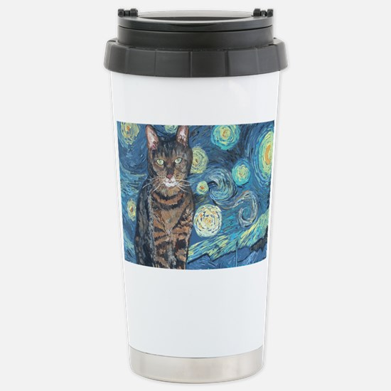 4x6Starey NightCat Stainless Steel Travel Mug