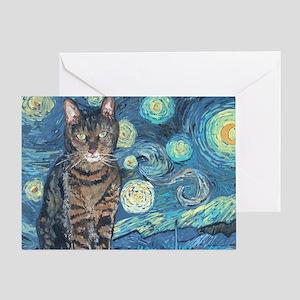 4x6Starey NightCat Greeting Card