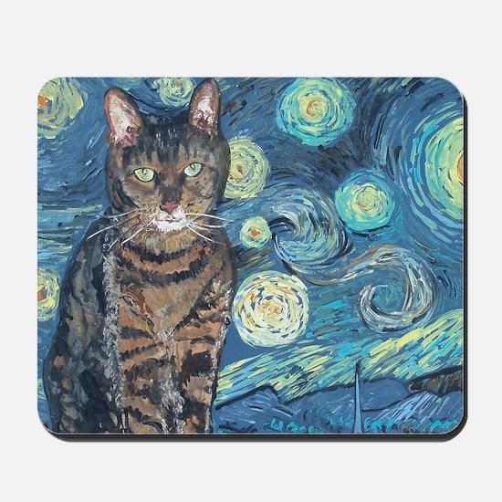 4x6Starey NightCat Mousepad