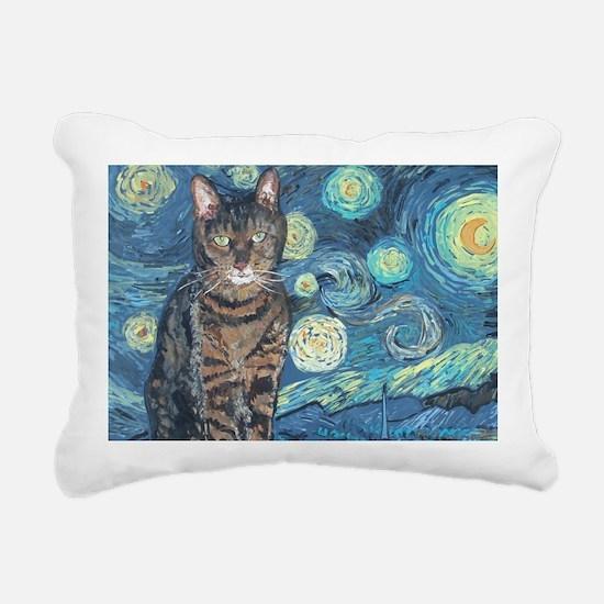 4x6Starey NightCat Rectangular Canvas Pillow