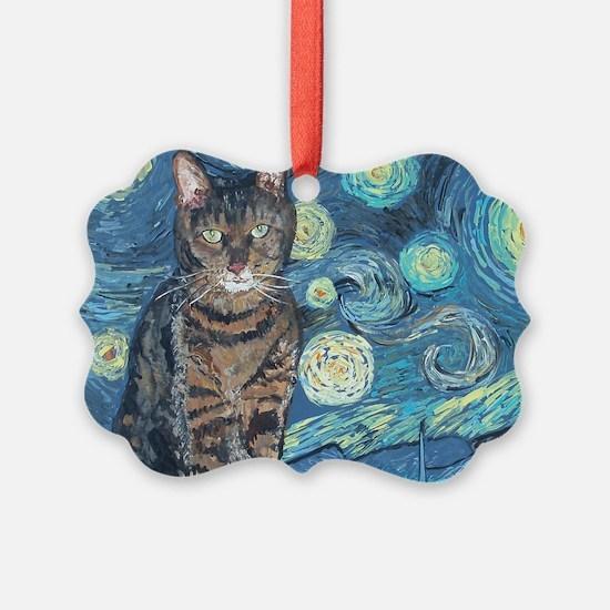 4x6Starey NightCat Ornament