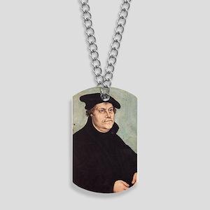 Luther by Cranach 2 Keychain Dog Tags