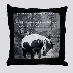The Paint RWBsm Throw Pillow