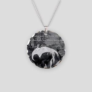 The Paint RWBsm Necklace Circle Charm