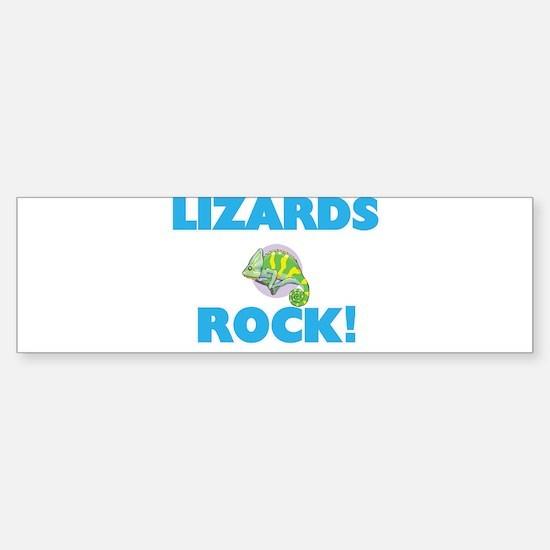 Lizards rock! Bumper Bumper Bumper Sticker