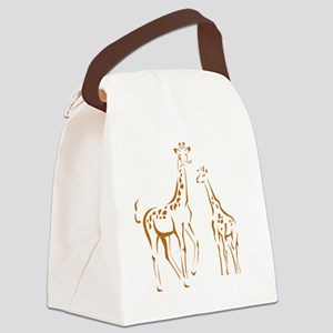 giraffes Canvas Lunch Bag