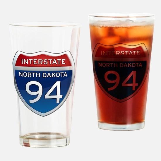 Interstate 94 - North Dakota Drinking Glass
