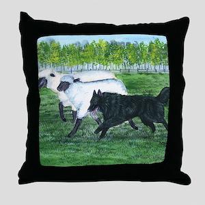 bel shep herd Throw Pillow