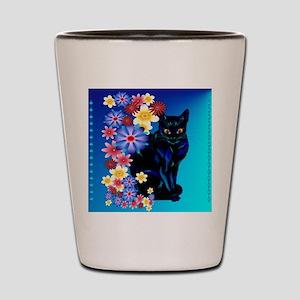 Black Garden Kitty_pillow Shot Glass
