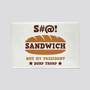 Sandwich Trump Rectangle Magnet