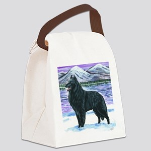 bel shep snow Canvas Lunch Bag