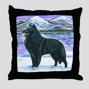 bel shep snow Throw Pillow