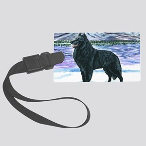 bel shep snow Large Luggage Tag