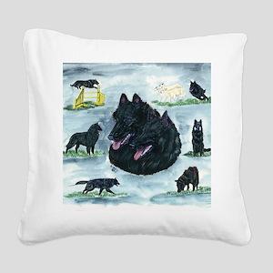 bel shep versatility Square Canvas Pillow